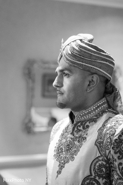 Groom in Somerset, NJ  Indian Wedding by MaxPhoto NY