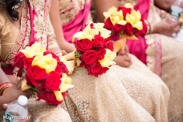 Bridal Party Bouquets in Somerset, NJ  Indian Wedding by MaxPhoto NY