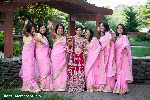 Indian bridal party in Huntington, NY Indian Wedding by Digital Memory Studio