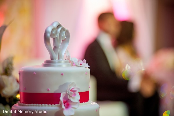 Cake topper in Huntington, NY Indian Wedding by Digital Memory Studio