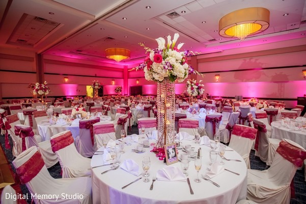 Centerpiece in Huntington, NY Indian Wedding by Digital Memory Studio