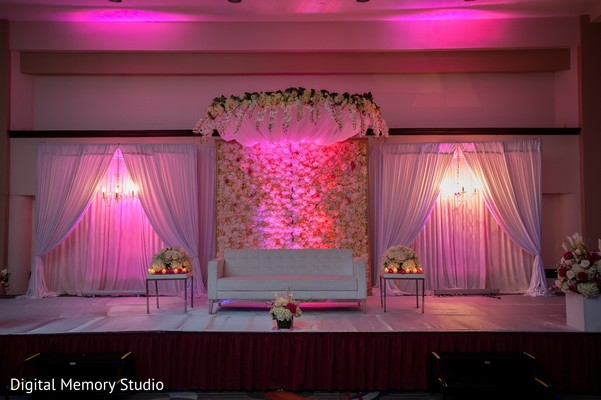 Sweetheart stage in Huntington, NY Indian Wedding by Digital Memory Studio