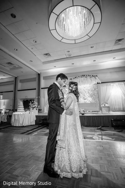 Reception portrait in Huntington, NY Indian Wedding by Digital Memory Studio