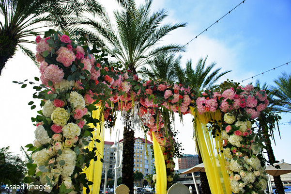 Ceremony Decor in Tampa, FL Indian Wedding by Asaad Images