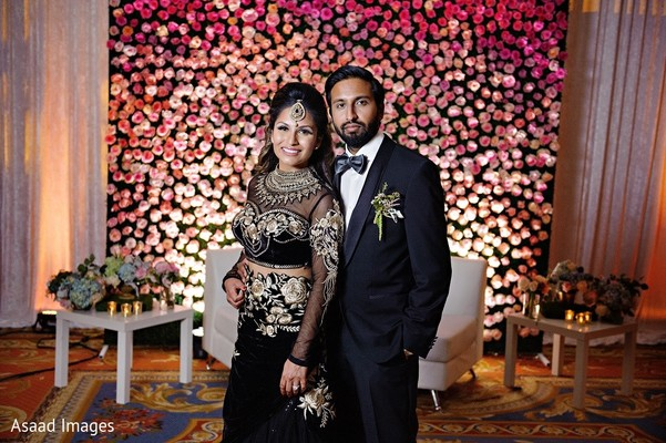 Reception Portrait in Tampa, FL Indian Wedding by Asaad Images