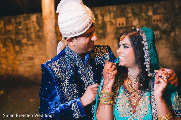 Indian wedding portrait in Austin, TX South Asian Wedding by Sloan Breeden Photography