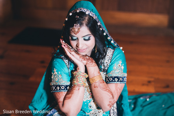 Indian bridal portrait in Austin, TX South Asian Wedding by Sloan Breeden Photography