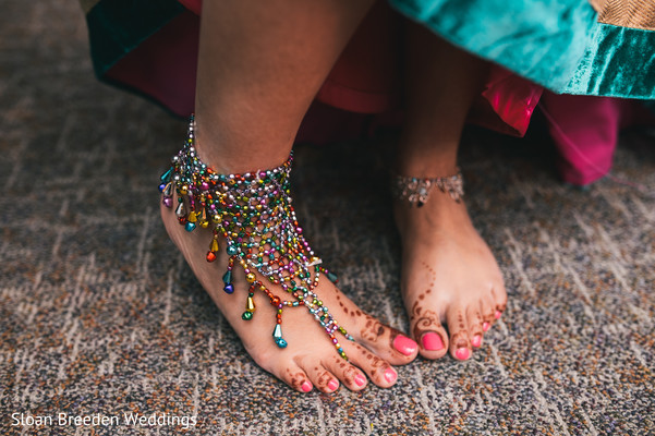 Mehndi feet in Austin, TX South Asian Wedding by Sloan Breeden Photography