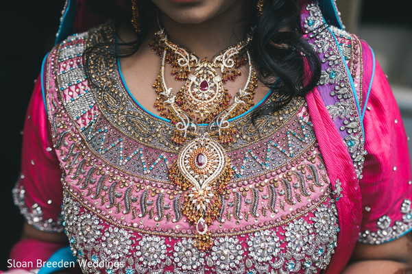 Necklace in Austin, TX South Asian Wedding by Sloan Breeden Photography