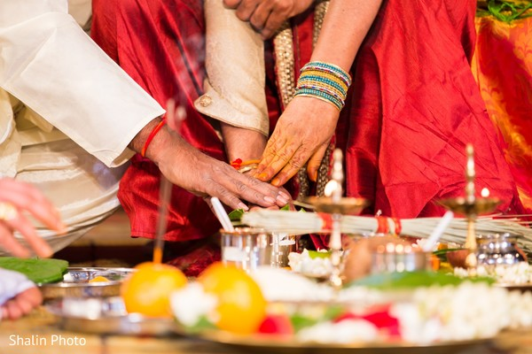 Ceremony in Chicago, IL South Indian Wedding by Shalin Photo