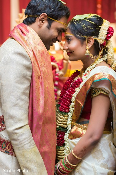 Indian wedding portraits in Chicago, IL South Indian Wedding by Shalin Photo
