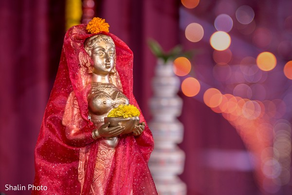 Ceremony decor in Chicago, IL South Indian Wedding by Shalin Photo