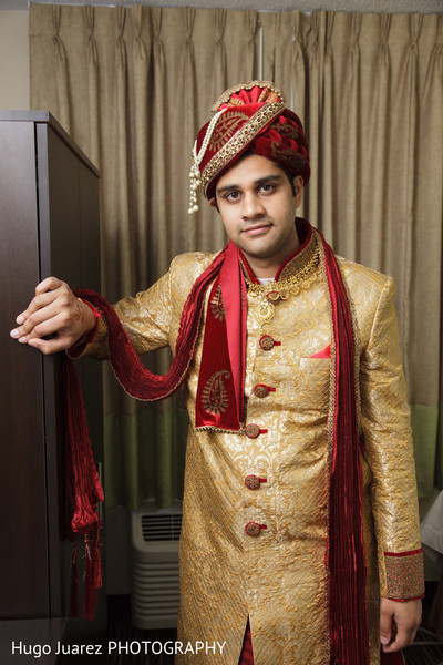 Groom in Brockport, NY South Asian Wedding by Hugo Juarez Photography