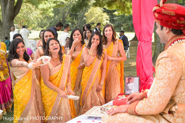 Bridesmaids in Brockport, NY South Asian Wedding by Hugo Juarez Photography