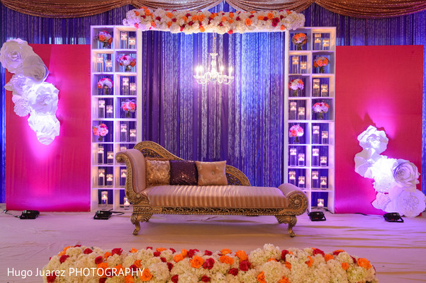 Reception decor in Brockport, NY South Asian Wedding by Hugo Juarez Photography