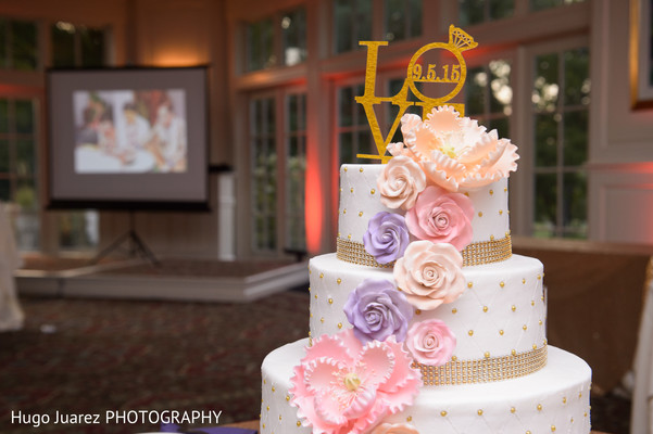Wedding cake in Brockport, NY South Asian Wedding by Hugo Juarez Photography