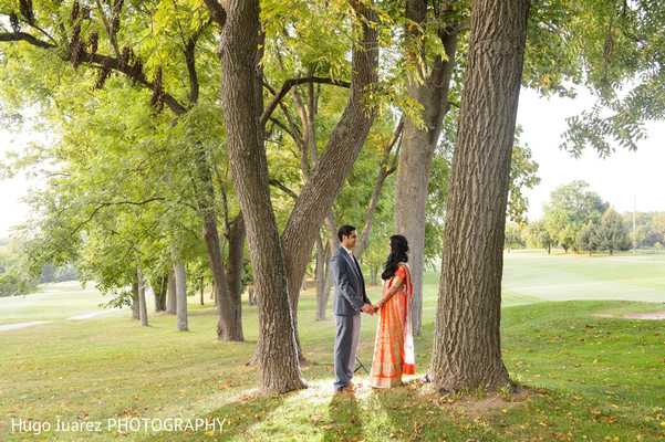 Reception portrait in Brockport, NY South Asian Wedding by Hugo Juarez Photography