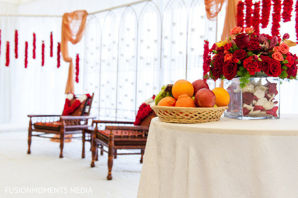 Ceremony decor in Mountain View, CA South Asian Wedding by Fusion Moments Media