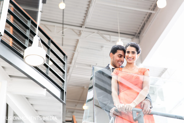 First look portrait in Mountain View, CA South Asian Wedding by Fusion Moments Media