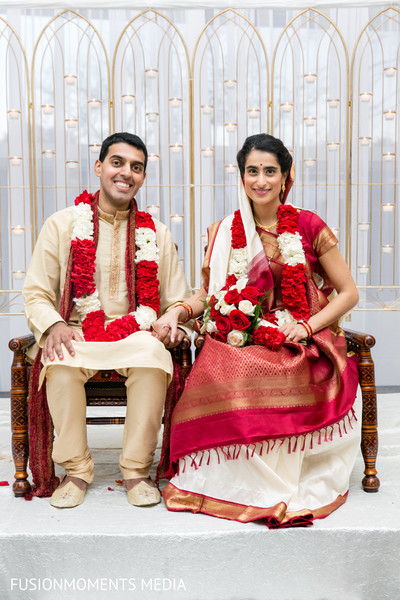 Wedding portrait in Mountain View, CA South Asian Wedding by Fusion Moments Media