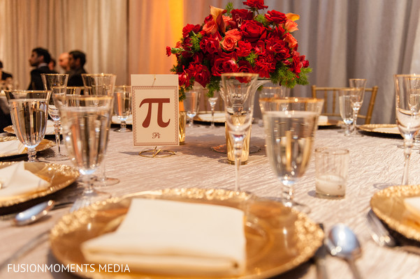 Place setting in Mountain View, CA South Asian Wedding by Fusion Moments Media