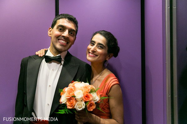 Reception portrait in Mountain View, CA South Asian Wedding by Fusion Moments Media