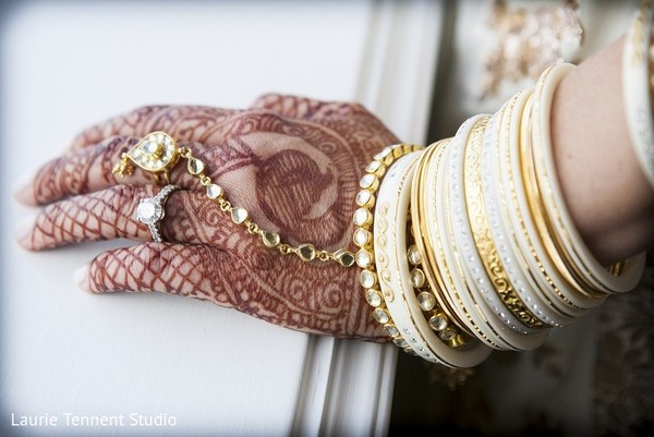 Bridal Jewelry & Mehndi in Plymouth, MI  Indian Fusion Wedding by Laurie Tennent Studio