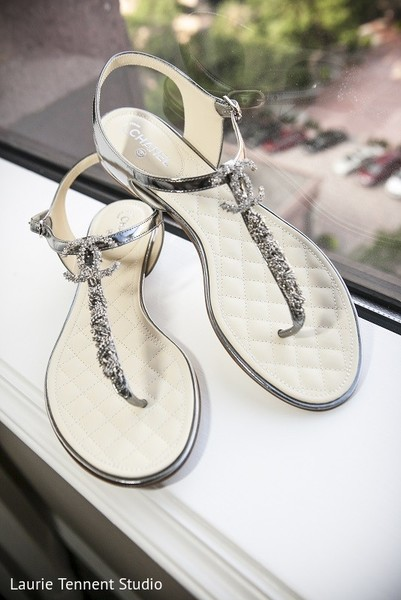 Shoes in Plymouth, MI  Indian Fusion Wedding by Laurie Tennent Studio