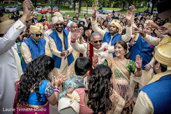 Baraat in Plymouth, MI  Indian Fusion Wedding by Laurie Tennent Studio