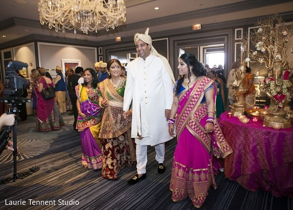Ceremony in Plymouth, MI  Indian Fusion Wedding by Laurie Tennent Studio