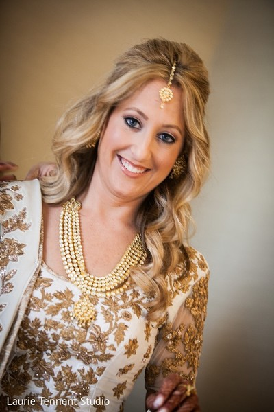 Hair & Makeup in Plymouth, MI  Indian Fusion Wedding by Laurie Tennent Studio