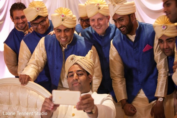 Groomsmen in Plymouth, MI  Indian Fusion Wedding by Laurie Tennent Studio
