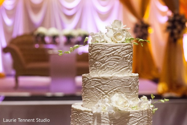 Wedding Cake in Plymouth, MI  Indian Fusion Wedding by Laurie Tennent Studio
