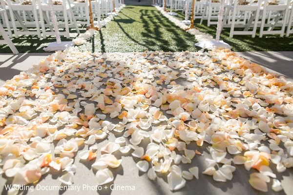 Ceremony Decor in San Mateo, CA Indian Fusion Wedding by Wedding Documentary Photo + Cinema