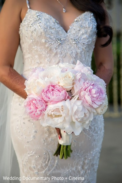 Bridal Bouquet in San Mateo, CA Indian Fusion Wedding by Wedding Documentary Photo + Cinema