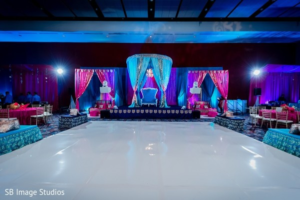 Sangeet Decor in Houston, TX Indian Fusion Wedding by SB Image Studios