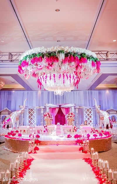 Ceremony Decor in Houston, TX Indian Fusion Wedding by SB Image Studios
