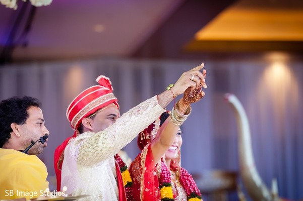 Ceremony in Houston, TX Indian Fusion Wedding by SB Image Studios