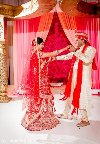 Wedding Portrait in Houston, TX Indian Fusion Wedding by SB Image Studios