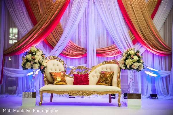 Sweetheart stage in Austin, TX Indian Fusion Wedding by Matt Montalvo Photography