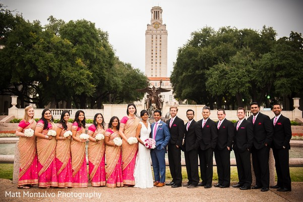 Wedding party in Austin, TX Indian Fusion Wedding by Matt Montalvo Photography