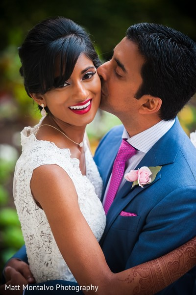 Wedding portrait in Austin, TX Indian Fusion Wedding by Matt Montalvo Photography