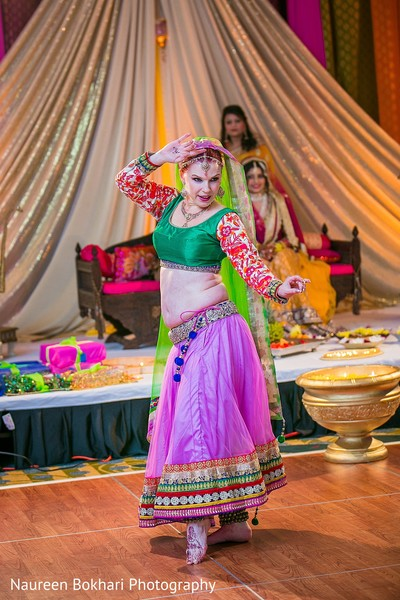 Belly dancer in Herndon, VA Indian Wedding by Naureen Bokhari Photography