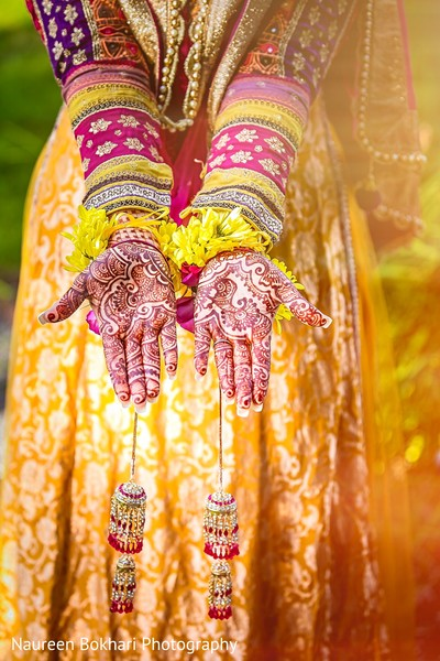 Mehndi hands in Herndon, VA Indian Wedding by Naureen Bokhari Photography