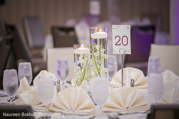 Reception floral and decor in Herndon, VA Indian Wedding by Naureen Bokhari Photography