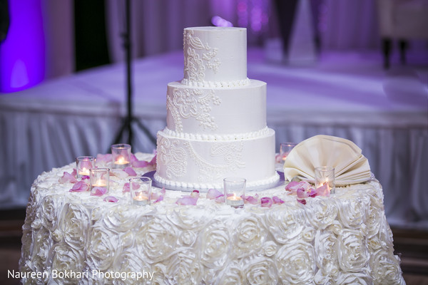 Indian wedding cake in Herndon, VA Indian Wedding by Naureen Bokhari Photography