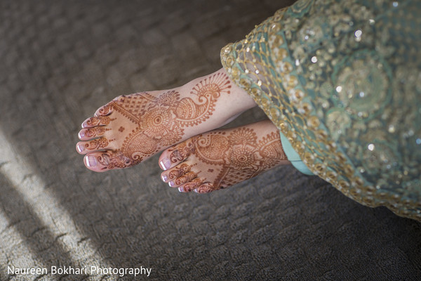 Mehndi feet in Herndon, VA Indian Wedding by Naureen Bokhari Photography