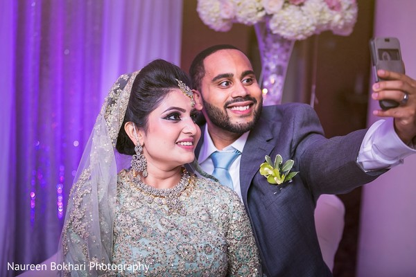 Reception in Herndon, VA Indian Wedding by Naureen Bokhari Photography