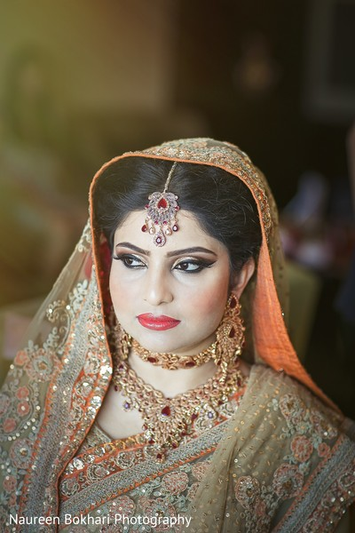 Hair and makeup in Herndon, VA Indian Wedding by Naureen Bokhari Photography