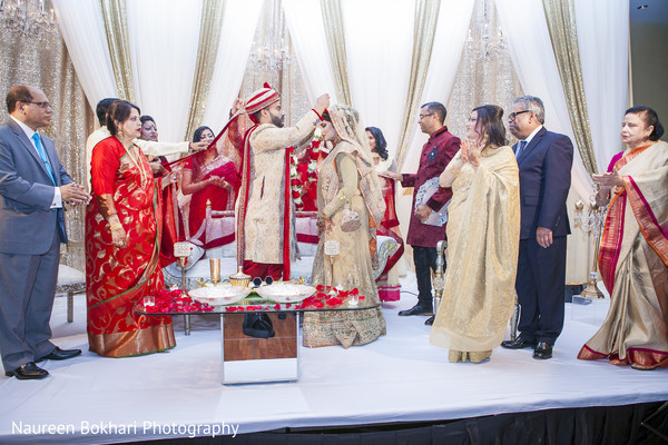 Ceremony in Herndon, VA Indian Wedding by Naureen Bokhari Photography